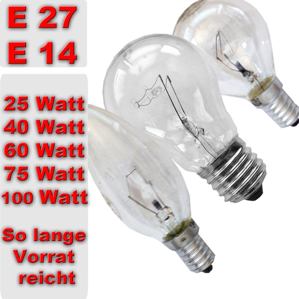 gl hbirne gl hlampe 25 40 60 75 100 watt gl h lampe birne