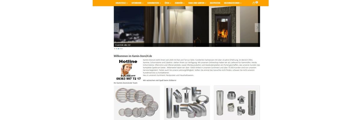 Kaminstore24 relaunched seinen Store mit JTL - Neuigkeiten bei Kamin-Store24