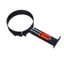 Rohrhalterung für 2mm Rohr schwarz ø120 # 310