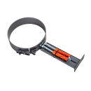 Rohrhalterung für 2mm Rohr ø150 gussgrau # 288