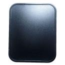 Bodenblech HSL silber/schwarz 40x50x0,6 cm
