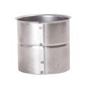 Rauchrohr Wandfutter einfach für 2mm Rohr 120mm -...