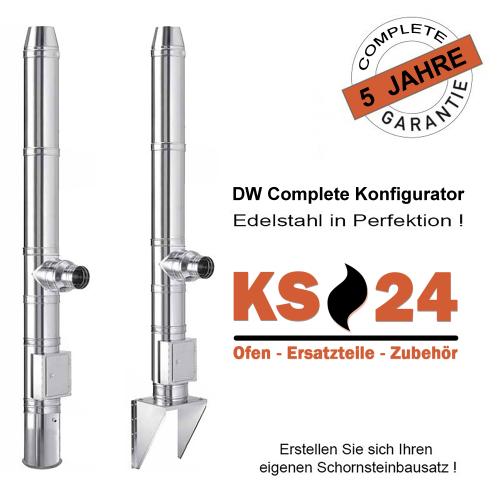 Edelstahlschornstein DW Complete Konfigurator Bausatz