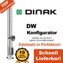 Dinak Edelstahl Schornstein Konfigurator DW