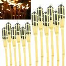 Gartenfackeln Bambus Holz Öllampe Beleuchtung Aussen...