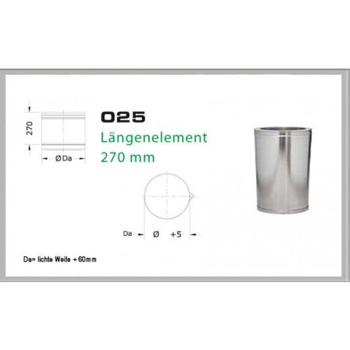 Längenelement 270mm für Schornsteinsets 200mm DW6