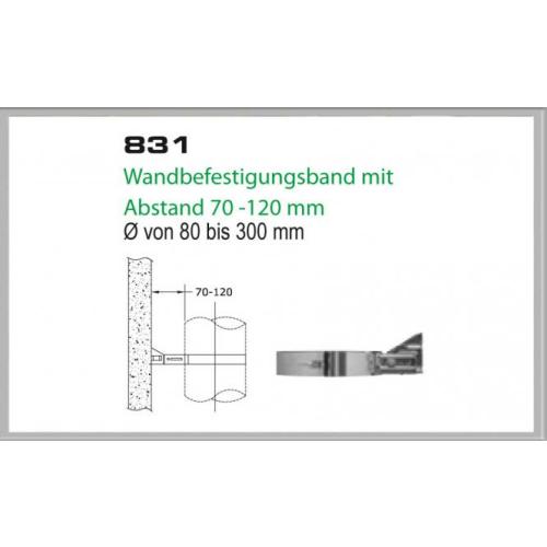 Wandhalterung 70-120mm für Schornsteinsets 130mm DW6