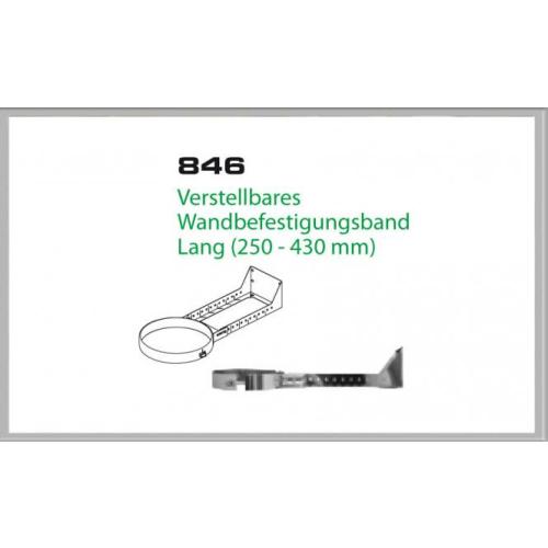 Wandhalterung 250-430mm für Schornsteinsets 130mm DW6