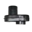 Ofenanschluss verstellbar 230mm - 400mm DN120mm Flachknie...