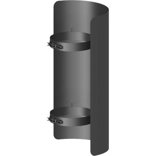 Ofenrohr Strahlungsschutz Länge= 500 mm  DN 130mm schwarz