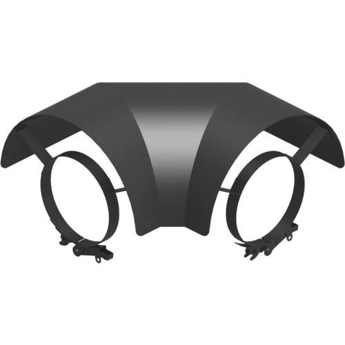 Ofenrohr Strahlungsschutz Bogen 90° liegend  DN 120mm schwarz