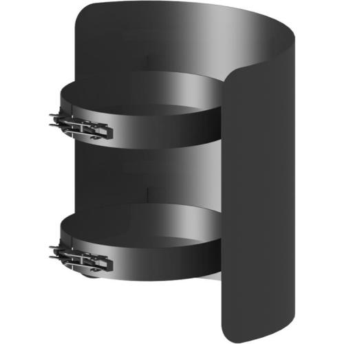 Ofenrohr Strahlungsschutz Länge= 250 mm  DN 130mm schwarz