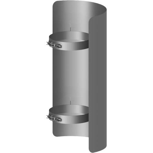 Ofenrohr Strahlungsschutz Länge= 500 mm  DN 120mm gussgrau
