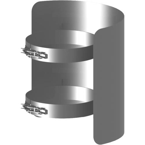 Ofenrohr Strahlungsschutz Länge= 250 mm  DN 130mm gussgrau