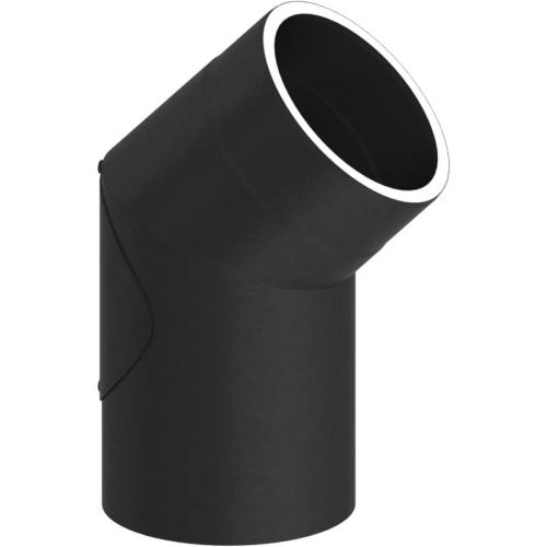 Tecnovis Tec-Protect Winkel 45° mit Tür Schwarz DN 150mm