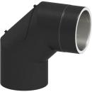 Tecnovis Tec-Protect Winkel 90° mit Tür Schwarz DN 150mm