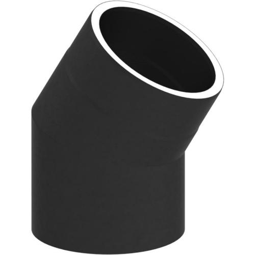 Tecnovis Tec-Protect Winkel 30° ohne Tür Schwarz DN 150mm