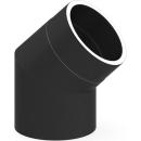 Tecnovis Tec-Protect Winkel 45° ohne Tür Schwarz DN 150mm