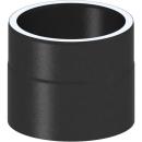 Tecnovis Tec-Protect Längenelement 130 mm mit Kondensatring (mit Einzug) Schwarz DN 130mm