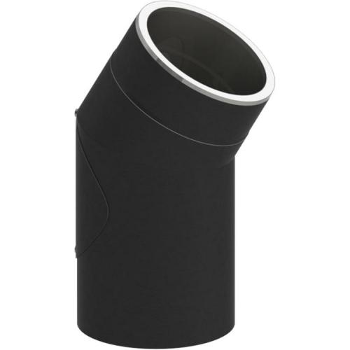 Tecnovis Tec-Protect Winkel 30° mit Tür Edelstahl gebürstet DN 130mm