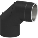 Tecnovis Tec-Protect Winkel 90° mit Tür Edelstahl gebürstet DN 130mm