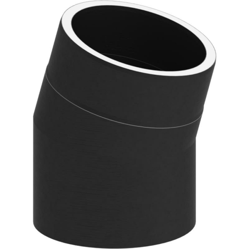 Tecnovis Tec-Protect Winkel 15° ohne Tür Edelstahl gebürstet DN 130mm
