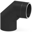 Tecnovis Tec-Protect Winkel 90° ohne Tür Edelstahl gebürstet DN 130mm