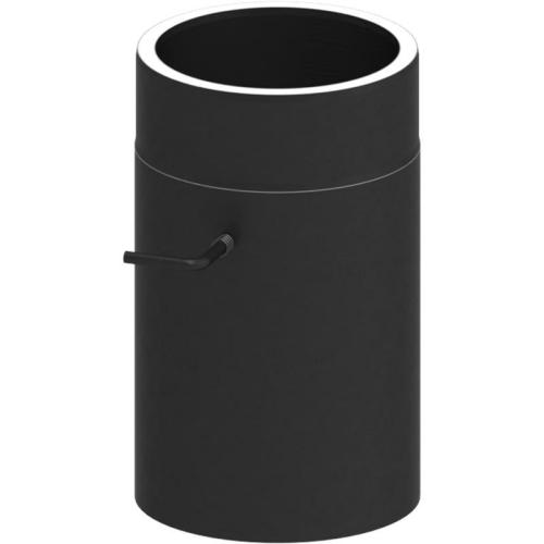 Tecnovis Tec-Protect Längenelement 300 mm mit Drosselklappe Edelstahl gebürstet DN 130mm