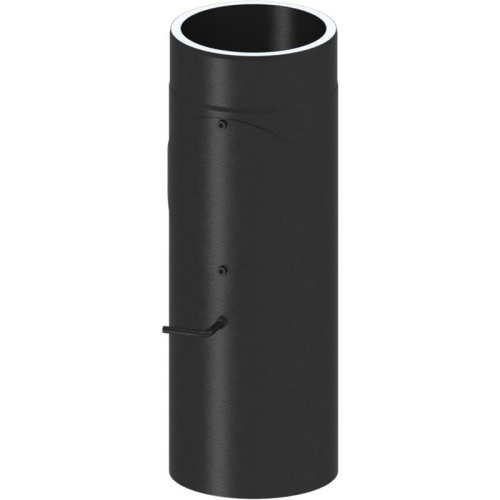 Tecnovis Tec-Protect Längenelement 500 mm mit DrosselklappeTür(mit Einzug) Edelstahl gebürstet DN 130mm