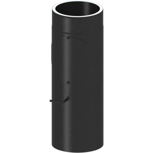 Tecnovis Tec-Protect Längenelement 500 mm mit DrosselklappeTür(mit Einzug) Edelstahl gebürstet DN 150mm