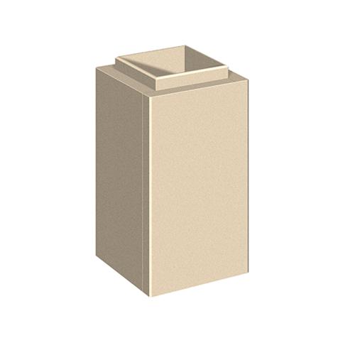 Schiedel Leichtbauschornstein LB90 Schachtelement H=500mm 150x150