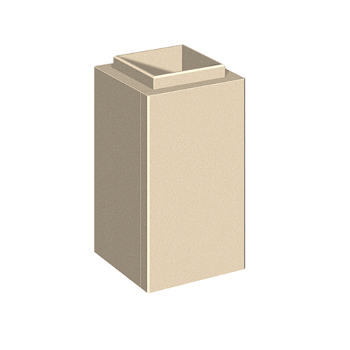 Schiedel Leichtbauschornstein LB90 Schachtelement H=500mm 220x220