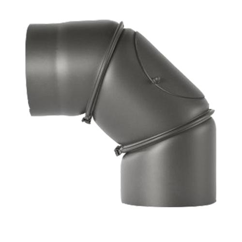 Bogen verstellbar 0-90° mit Tür DN 130mm gußgrau # 288