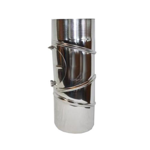 Ofenrohr Edelstahl  Bogen verstellbar 0-90° mit Tür DN 120mm