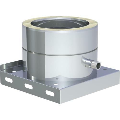 Jeremias DW ECO 2.0 Grundplatte mit Kondensatablauf seitlich und 1/2 Zoll Nippel DN 130mm