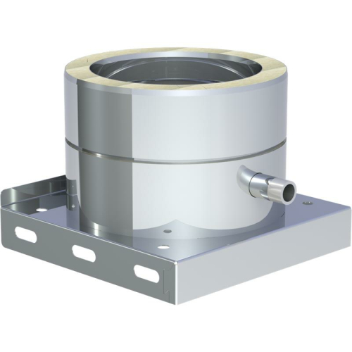 Jeremias DW ECO 2.0 Grundplatte mit Kondensatablauf seitlich und 1/2 Zoll Nippel DN 500mm