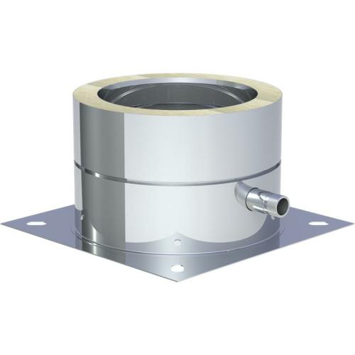 Jeremias DW ECO 2.0 Grundplatte für Sockelmontage mit 1/2 Zoll Außennippel und Kondensatablauf seitlich DN 130mm