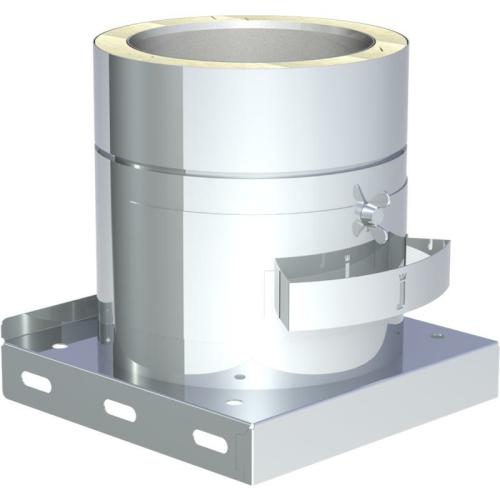 Jeremias DW ECO 2.0 Grundplatte mit herausnehmbarem Rußtopf  ohne Kondensatablauf DN 150mm