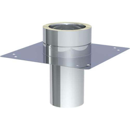 Jeremias DW ECO 2.0 Grundplatte für Kaminerhöhung (mit  rundem Einschub l=250mm) max. Aufbauhöhe ab Grundp. 1,5m DN 130mm