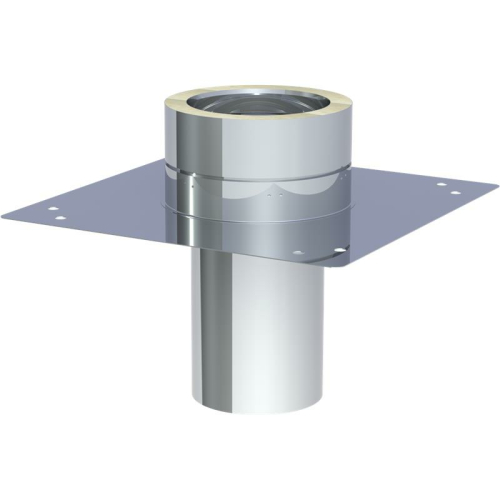 Jeremias DW ECO 2.0 Grundplatte für Kaminerhöhung (mit  rundem Einschub l=250mm) max. Aufbauhöhe ab Grundp. 1,5m DN 150mm