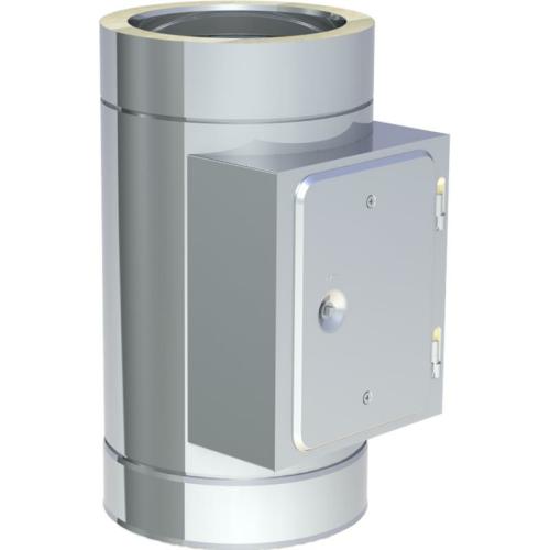 Jeremias DW ECO 2.0 Reinigungelement mit Tür Eckig bis 600°C Unterdruckbetrieb DN 180mm