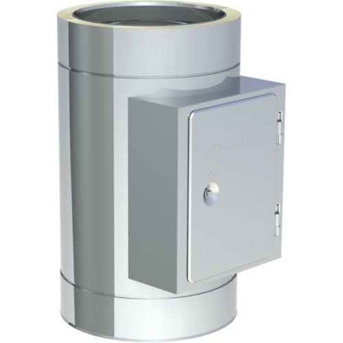 Jeremias DW ECO 2.0 Reinigungelement mit Rußschutzür Eckig bis 600°C Unterdruckbetrieb DN 180mm
