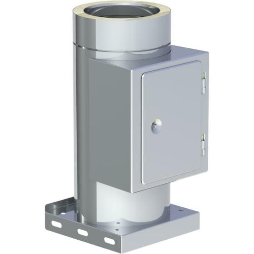 Jeremias DW ECO 2.0 Reinigungselement  und Kondensatablauf mit Kondensatablauf unten DN 400mm