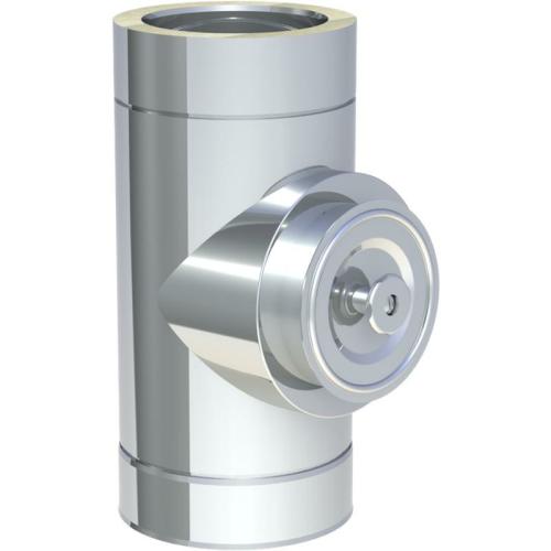 Jeremias DW ECO 2.0 Reinigungselelemt rund mit Deckel für Festbrennstoffe bis 600°C N1  DN 130mm