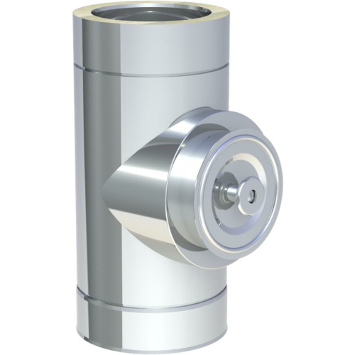 Jeremias DW ECO 2.0 Reinigungselelemt rund mit Deckel für Festbrennstoffe bis 600°C N1  DN 150mm