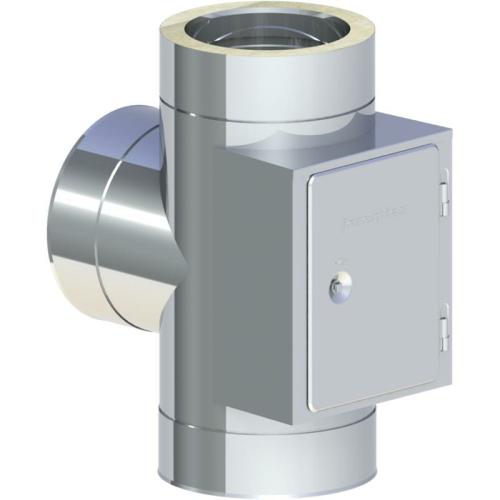 Jeremias DW ECO 2.0 T-Anschluss 90° mit gegenüberliegender Reinigung DN 130mm