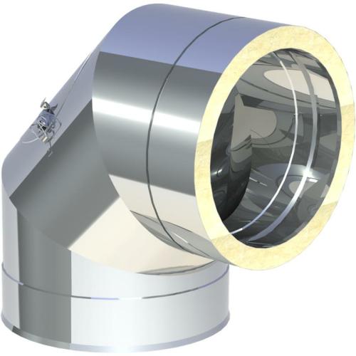Jeremias DW ECO 2.0 Winkel 90° mit Revisionsöffnung (bis 600 °C / N1)  DN 200mm
