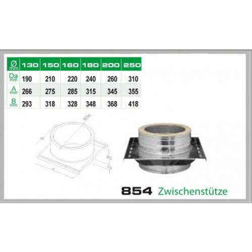Zwischenkonsole für Schornsteinsets 130mm DW6
