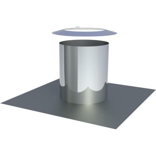 Jeremias DW ECO 2.0 Flachdachdurchführung zylindrisch mit Wetterkragen  DN 200mm