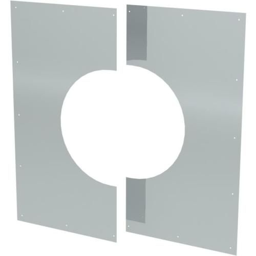 Jeremias DW ECO 2.0 Wand-/ Deckenblende, zweiteilig 1°-65°  DN 130mm